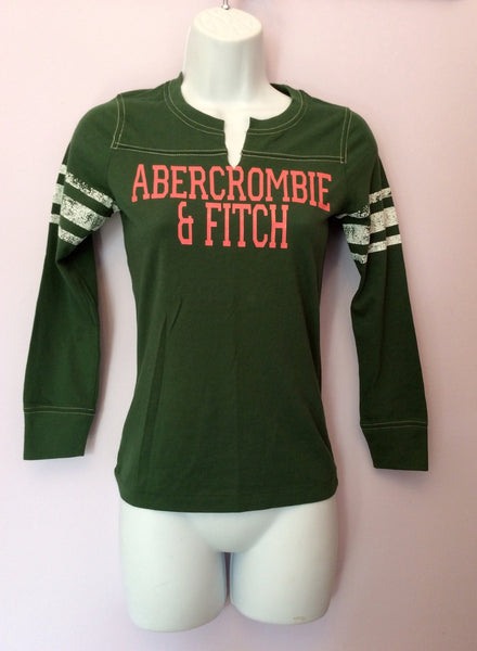 Brand New Abercrombie & Fitch Green Long Sleeve T Shirt Size S - Whispers Dress Agency - Womens T-Shirts & Vests - 1