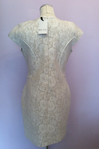 Brand New Reiss Cream Lace Jersey Dress Size 14 - Whispers Dress Agency - Womens Dresses - 7
