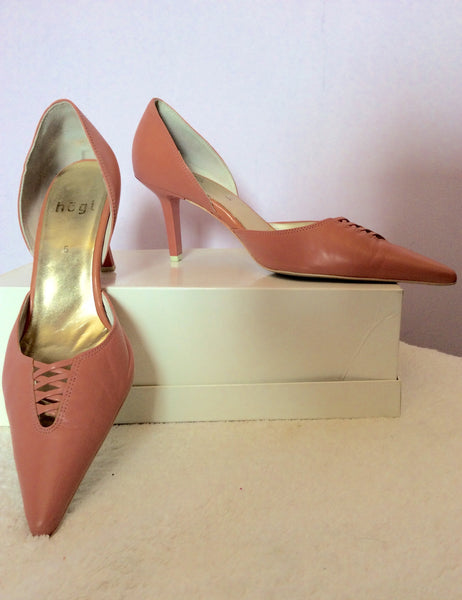 Hogl Rose Pink Leather Heels Size 5/38 - Whispers Dress Agency - Womens Heels - 1