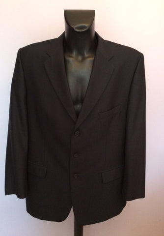Douglas Dark Blue Wool Blend Suit Jacket Size 46R - Whispers Dress Agency - Mens Suits & Tailoring - 1