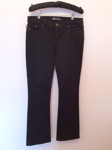 Rock & Republic Black & Red Kassandra Boot Leg Jeans Size 29 - Whispers Dress Agency - Womens Jeans - 1