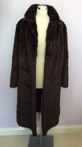 Astraka Dark Brown Faux Fur Coat Size M Approx. - Whispers Dress Agency - Womens Coats & Jackets - 5