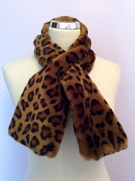 Forge-A-Head Brown Leopard Print Faux Fur Scarf - Whispers Dress Agency - Sold