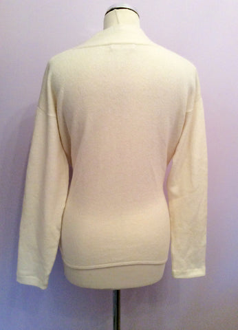 Kenar Ivory V Neck Tie Side Jumper Size XL - Whispers Dress Agency - Womens Knitwear - 2
