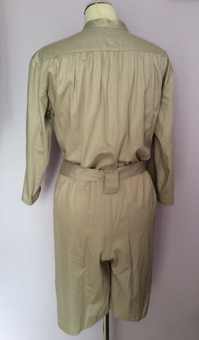 French Connection Beige Belted Shorts Playsuit Size 10 - Whispers Dress Agency - Womens Jumpsuits & Playsuits - 2
