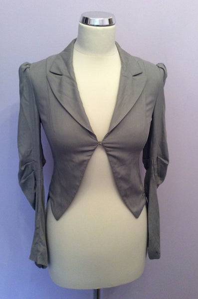 All Saints Grey Endymion Silk Tail Coat Jacket Size 8 - Whispers Dress Agency - Sold - 1