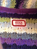 AVOCA ANTHOLOGY PURPLE,WHITE,GREY & GREEN STRIPE LONG CARDIGAN SIZE 1 UK S - Whispers Dress Agency - Womens Knitwear - 4