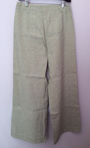 Annette Gortz Light Grey Pinstripe Linen Blend Trouser Suit Size 40/44 UK 14/18 - Whispers Dress Agency - Womens Suits & Tailoring - 5
