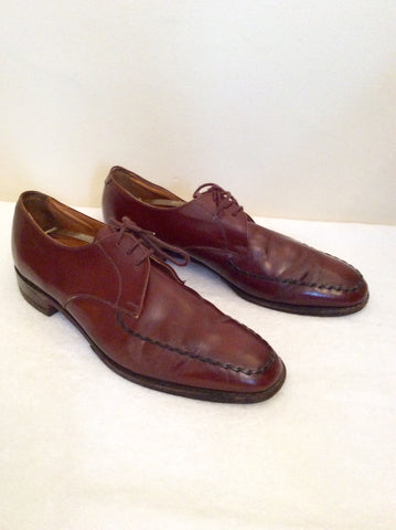 Loake Tan Brown All Leather Lace Up Shoes Size 9.5 /44 - Whispers Dress Agency - Mens Formal Shoes - 3