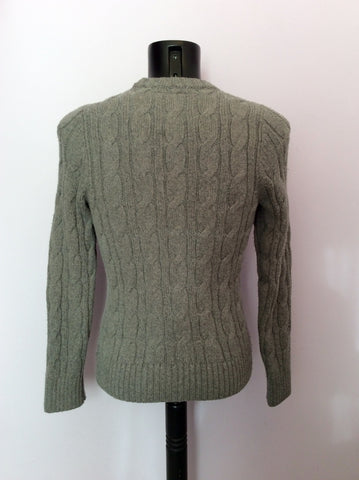 Abercrombie & Fitch Grey Cable Knit Jumper Size M - Whispers Dress Agency - Mens Knitwear - 2