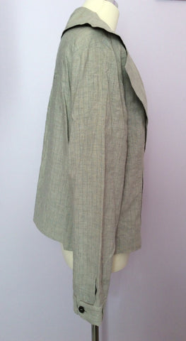 Annette Gortz Light Grey Pinstripe Linen Blend Trouser Suit Size 40/44 UK 14/18 - Whispers Dress Agency - Womens Suits & Tailoring - 3