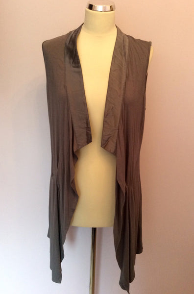 Mint Velvet Dark Grey Silk Trim Waistcoat Size 14 - Whispers Dress Agency - Sold