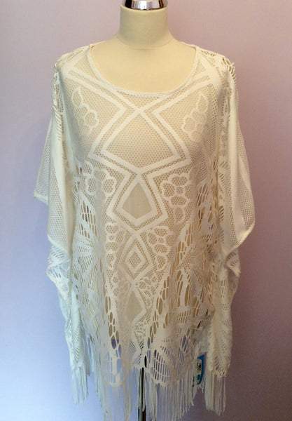 Brand New Marks & Spencer White Lace Beach Kaftan/ Cover Up Size M - Whispers Dress Agency - Sold - 1