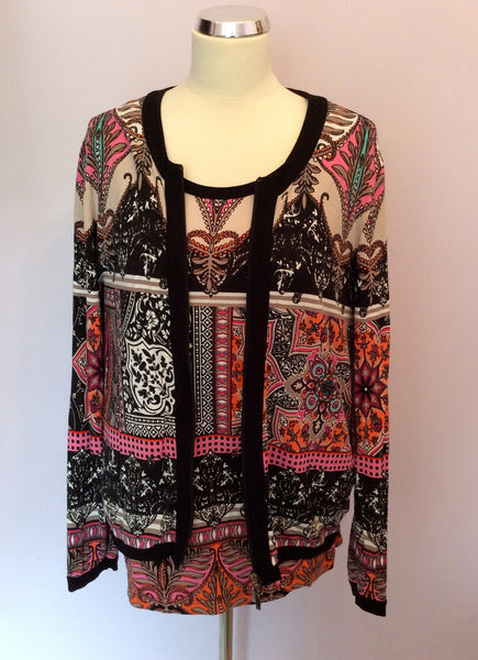 Gerry Weber Multi Print Top & Zip Cardigan Size 16 - Whispers Dress Agency - Sold - 1