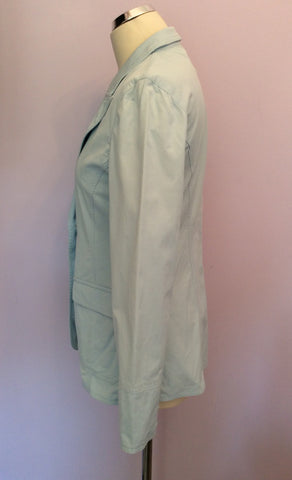 Armani Jeans Light Blue Jacket Size 14 - Whispers Dress Agency - Womens Coats & Jackets - 2