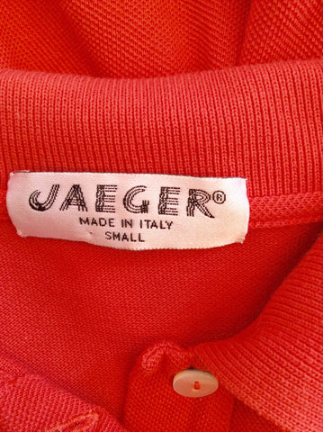 Vintage Jaeger Coral Orange Cotton Polo Shirt Size S - Whispers Dress Agency - Womens Vintage - 2
