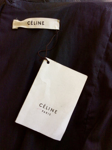 BRAND NEW CELINE BLACK LEATHER DRESS SIZE 42 UK 12 - Whispers Dress Agency - Womens Dresses - 7