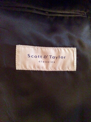 Scott & Taylor Black Tuxedo Wool Blend Suit Size 42R/ 36W - Whispers Dress Agency - Mens Suits & Tailoring - 5