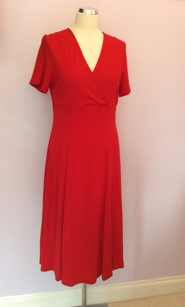 Brand New Country Casuals Red Jersey Dress Size M Whispers Dress Agency