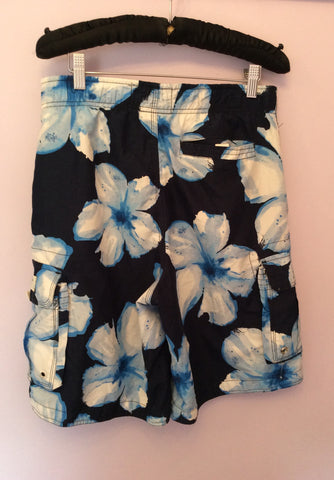 Abercrombie & Fitch Blue & White Floral Swim Short Size S - Whispers Dress Agency - Mens Swim & Beachwear - 2