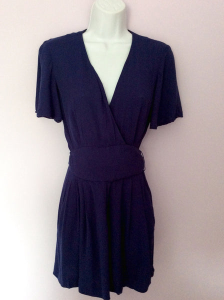 French Connection Dark Blue Shorts Playsuit Size 10 - Whispers Dress Agency - Sold - 1