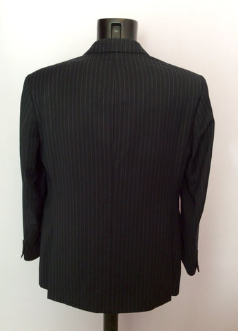 Marks & Spencer Sartorial Navy Blue Pinstripe Suit Size 40S/ 34W - Whispers Dress Agency - Mens Suits & Tailoring - 4