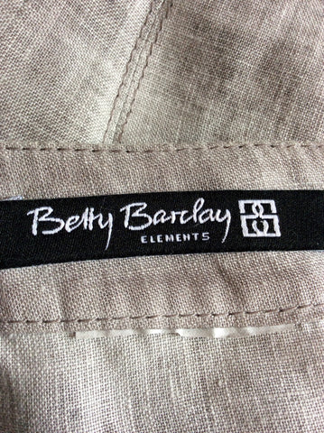BETTY BARCLAY GREY LINEN JACKET/TOP & TROUSER SUIT SIZE 10 - Whispers Dress Agency - Womens Suits & Tailoring - 6