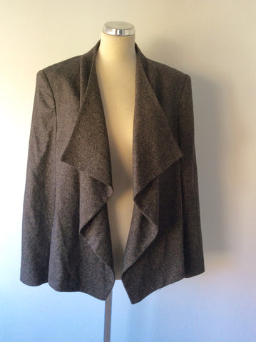 KALIKO BROWN MARL WOOL BLEND JACKET SIZE 18 - Whispers Dress Agency - Women suits & Tailoring - 1