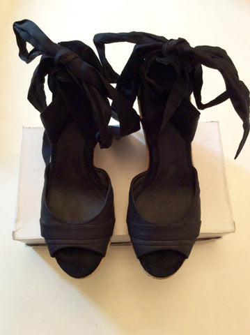 UGG JULES BLACK HIGH WEDGE HEEL SANDALS SIZE 6.5/40 - Whispers Dress Agency - Sold - 5
