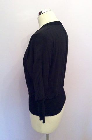 BANANA REPUBLIC LUXURIOUS BLACK SILK & CASHMERE LINED BOMBER JACKET SIZE XS - Whispers Dress Agency - Womens Coats & Jackets - 2