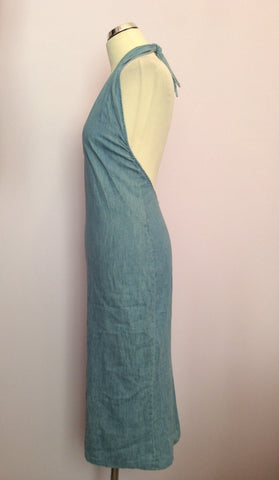 Joseph Light Blue Denim Halterneck Top Dress Size S - Whispers Dress Agency - Sold - 3