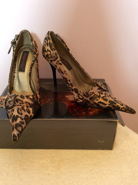 Brand New Sergio Todzi Brown Leopard Print Heels Size 3/36 - Whispers Dress Agency - Sold - 1