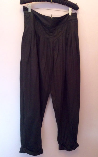 French Connection Black Ali Baba Balloon Trousers Size 12 - Whispers Dress Agency - Sold - 1