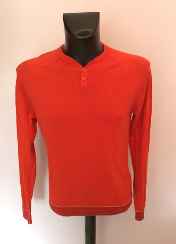 Ted Baker Red Crew Neck Jumper Size 3 Approx M - Whispers Dress Agency - Mens Knitwear - 1