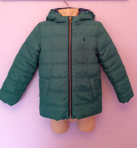 Joules Green Padded Hooded Jacket Age 6 Years - Whispers Dress Agency - Boys Coats & Jackets