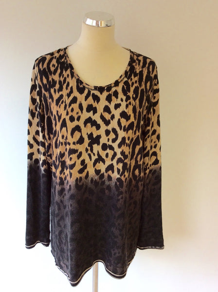 BASLER BLACK LABEL ANNIVERSARY EDITION ANIMAL PRINT LONG SLEEVE TOP SIZE 18 - Whispers Dress Agency - Sold - 1
