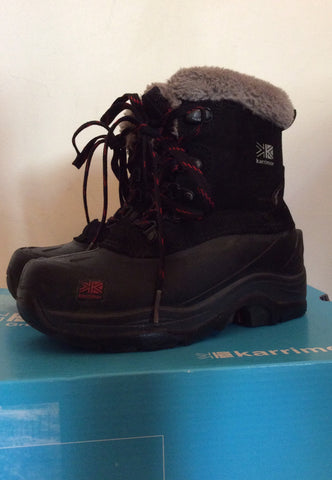 Karrimor Junior Black / Red Suede Snow / Walking Boots Size 12 - Whispers Dress Agency - Boys Footwear - 3