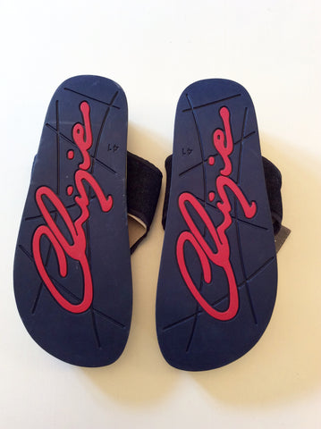 BRAND NEW CHIPIE DARK BLUE DENIM TOE POST FLIP FLOPS SIZE 7.5/41 - Whispers Dress Agency - Mens Sandals & Beach - 2