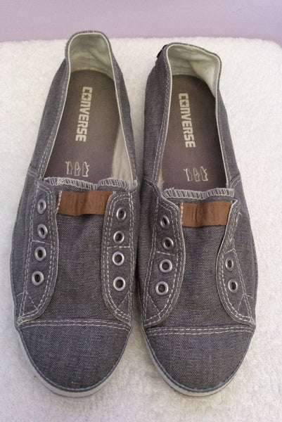 Brand New Converse All Star Grey Canvas Plimsols Size 7/41 - Whispers Dress Agency - Womens Trainers & Plimsolls - 1