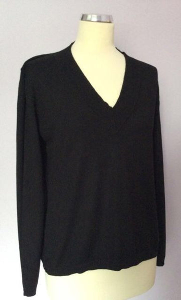 Betty Barclay Black V Neck Jumper Size 14 - Whispers Dress Agency - Sold - 1