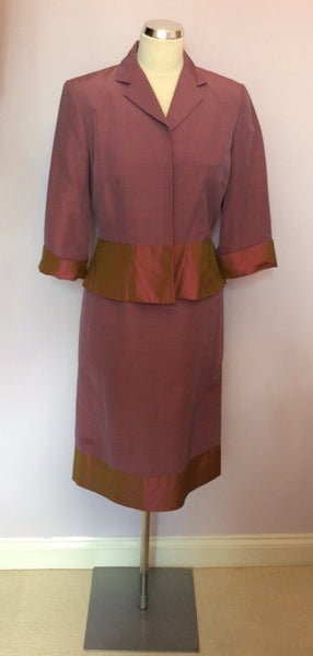 Laura Ashley Deep Dusky Pink Dress & Jacket Suit Size 10 - Whispers Dress Agency - Womens Suits & Tailoring - 1