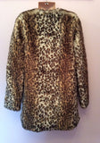 Zara Kids Leopard Print Faux Fur Coat Age 10/11 Years - Whispers Dress Agency - Sold - 2