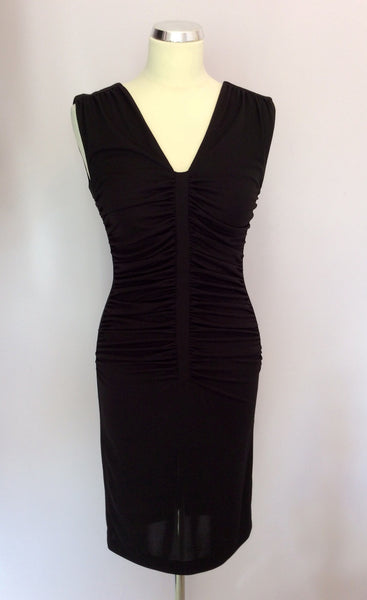 Marks & Spencer Autograph Black Wiggle / Pencil Dress Size 8 - Whispers Dress Agency - Womens Dresses - 1