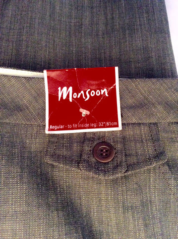 Brand New Monsoon Brown Marl Trousers Size 16 - Whispers Dress Agency - Womens Trousers - 2