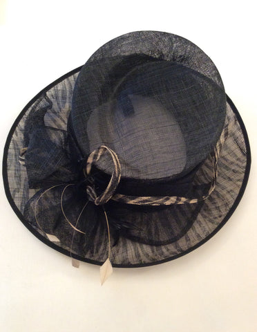 Marks & Spencer Autograph Black & Cream Print Formal Hat - Whispers Dress Agency - Womens Formal Hats & Fascinators - 3