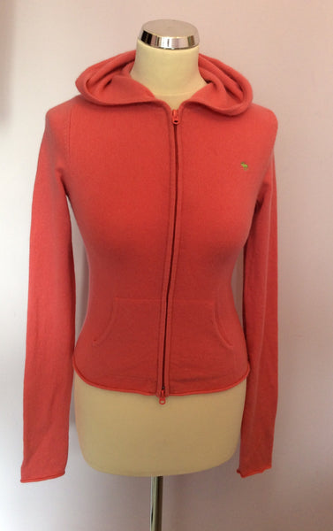 Abercrombie & Fitch (Ezra Fitch) Pink Hooded Cashmere Cardigan Size L - Whispers Dress Agency - Sold - 1