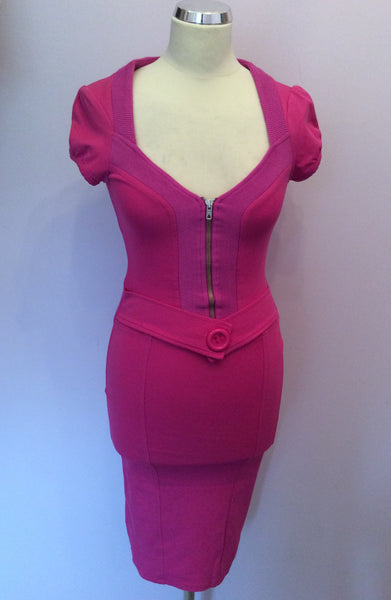 Morgan Fuchsia Pink Stretch Pencil Dress Size XS - Whispers Dress Agency - Womens Dresses - 1