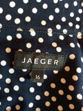 Jaeger Navy Blue & White Spot Top & Trousers Suit Size 16 - Whispers Dress Agency - Womens Suits & Tailoring - 6