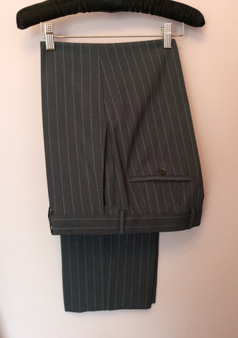 Hugo Boss Grey Pinstripe Wool Suit Size 38R /36W - Whispers Dress Agency - Mens Suits & Tailoring - 6
