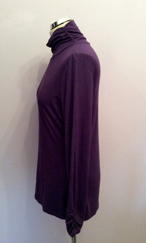 Gil Bret Purple Stretch Jersey Polo Neck Top Size 16 - Whispers Dress Agency - Fundraising - 2